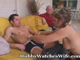 Hubby Ecstatic Watching Wife