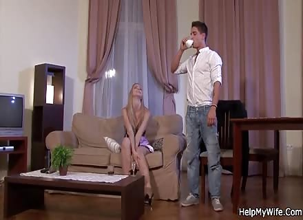 Cuckold Watches His European Wife Fucked