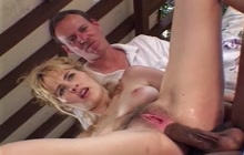 Rough Interracial DP For Cuckold MILF