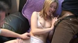 BBC Gets Creampie Sloppy Seconds Blonde Wife With Husband And Black Lover Double Creampie