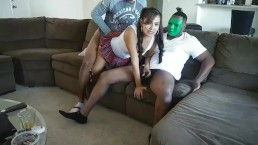 3 Masked BBC Bulls Run A Train On Married Slutwife Interracial Gangbanged Wife