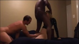Real Homemade Cuckolding Wife Sharing With Hubby and BBC Best Friend